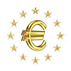 European Union symbol and euro sign.
