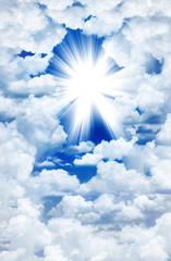 Divine light through the clouds