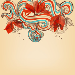 Poster Abstract Floral Beautiful romantic floral background vector illustration
