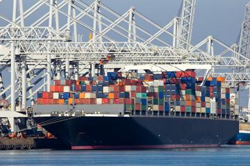 Photo sur Aluminium Rotterdam Container ship