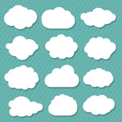 Printed roller blinds Heaven Cartoon Clouds Set