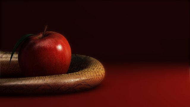 Mela e serpente