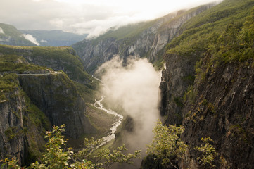 Canyon in the west of Norway