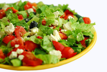 Tasty Greek Salad with feta
