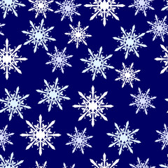 Winter seamless vector pattern