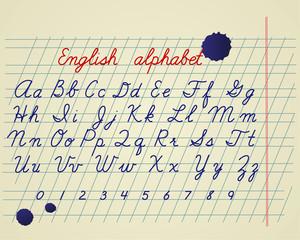 English alphabet set