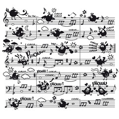 partition musique oiseau personnage concert