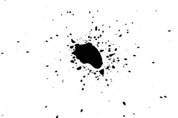 Chinese ink drops on a white background.