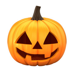 3d render of Jack 0 Lantern isolated in white background