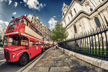 Foto auf Leinwand London roten bus Red Double Decker Bus, symbol of London