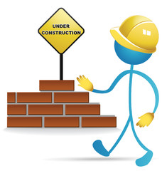 Worker and construction vector stock