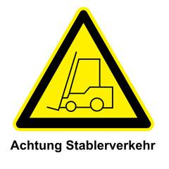 Schild - Gabelstabler