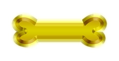 golden 3d bone illustration