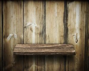 Old wooden shelves