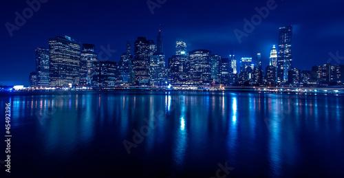 new york skyline bei nacht stockfotos und lizenzfreie bilder auf bild 45492396. Black Bedroom Furniture Sets. Home Design Ideas