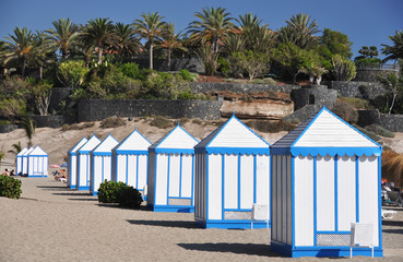 Cabins on the beach of Tenerife island, Canaries