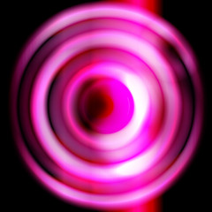 Photo sur Plexiglas Psychedelique pink round shape