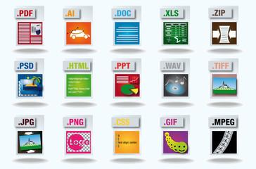 15 différents formats de  fichiers