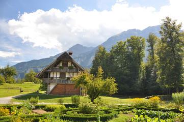 Traditional Swiss farm house