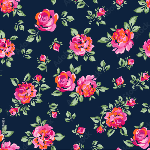 cute seamless rose background stock image and royalty free vector