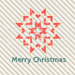 Christmas retro snowflake