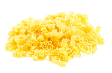 Raw yellow Italian pasta