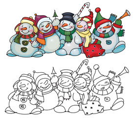 Fun snowmen for Christmas  design.