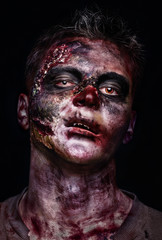 portrait of scary zombie