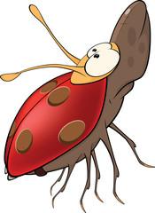 Ladybird from a fairy tale. Cartoon