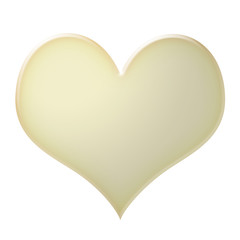 white canvas heart icon