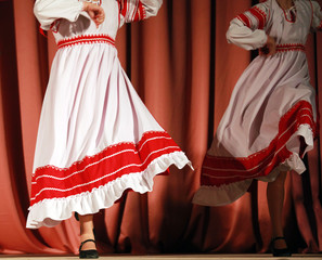 Bright fragment of fast Russian folk dance