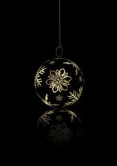 Black Merry Christmas background