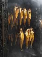 Fish in smoker