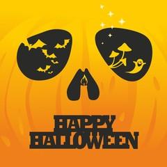 """""""Halloween pumpkin sign and bats"""""""