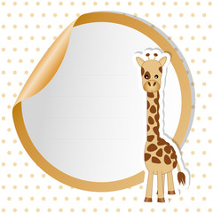 sticker giraffe - place your text