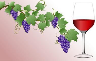 Weinglas Visitenkarte