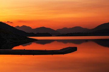Papiers peints Jetee Glencoe Scotland sunset