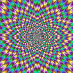 Tuinposter Psychedelic Eye Bender