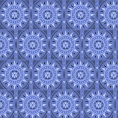 Moroccan tile solar seamless pattern, vector