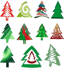 Icons Christmas trees