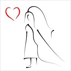 bride - simple sketch