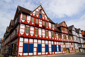 Fotomurales - Old Fachwerk house in Wolfenbuttel.  Niedersachsen, Germany.