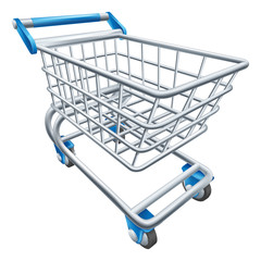 Supermarket shopping cart trolley