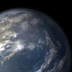 planet earth close up