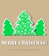 Geometric christmas trees with shade