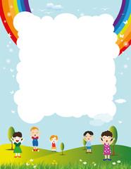 Children cheering in the park, Message for children