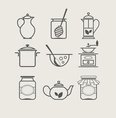 tableware set icon vector illustration