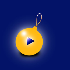 Christmas ball with the play button