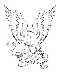 eagle ribbon