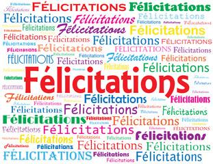 """Nuage de Tags """"FELICITATIONS"""" (bravo compliments félicitations)"""